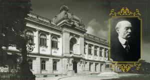 Parlamentul României - Senatul, a funcționat în Aula veche a Palatului Universității. (Bd. Carol I, Nr. 11). Em. Porumbaru, președintele Senatului în perioada refugiului la Iași.